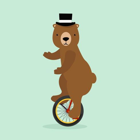 urso de circo vetor