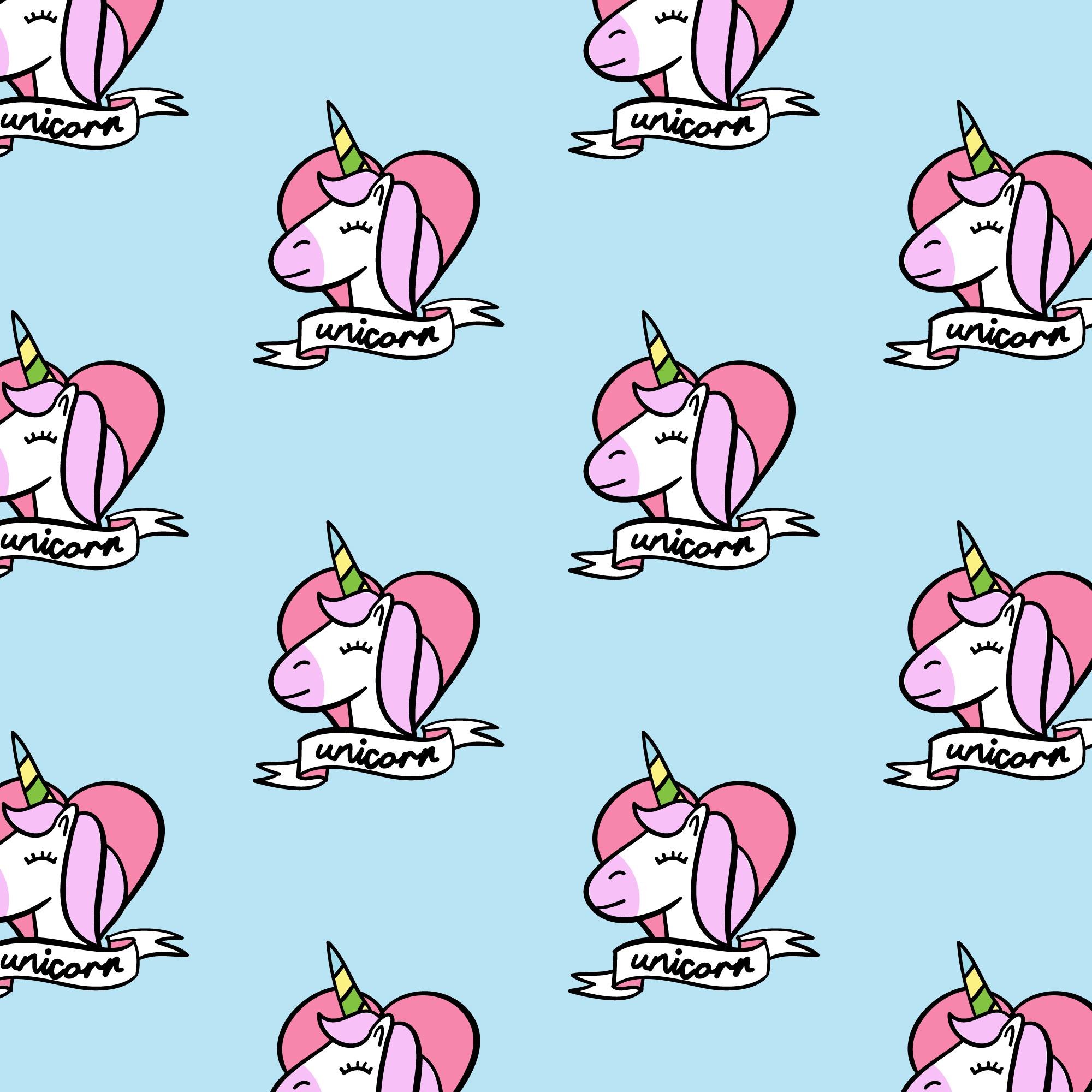 cartoon unicorn seamless pattern background  download