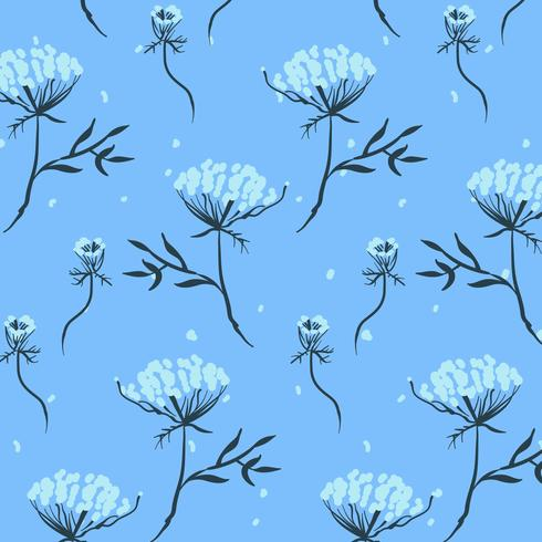 Hand drawn small flower bunches pattern