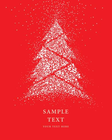 Christmas tree Glitter Snow Card