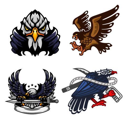 Eagle, Set of mascot logo