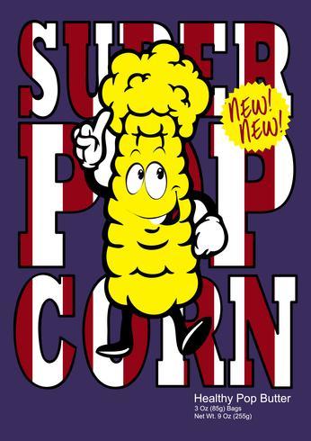 Ilustración de camiseta PopCorn vector
