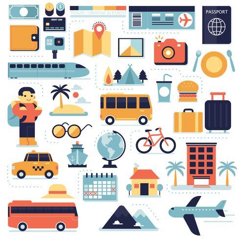 Viagens, elementos de infográfico
