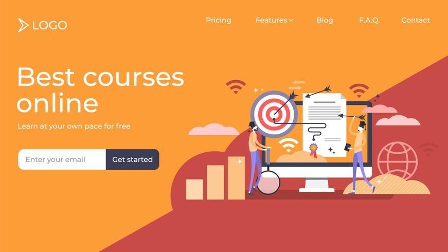 Design för målsida för marknadsföringsdiplom