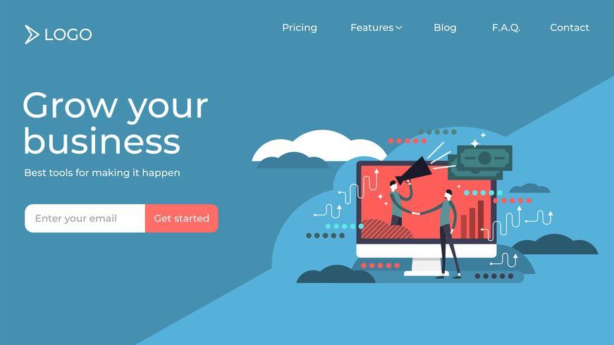 Affiliate marketing  landing page template design vector