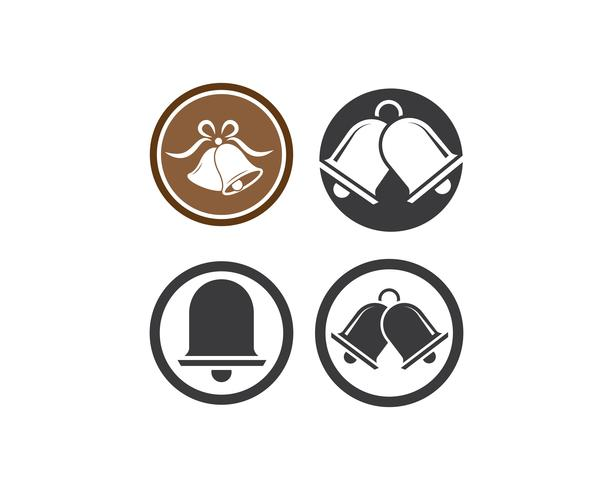 Conjunto de iconos de ilustración de campana de Navidad vector