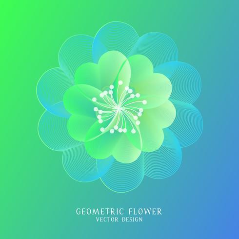 Abstracte kleurrijke geometrische bloem. vector