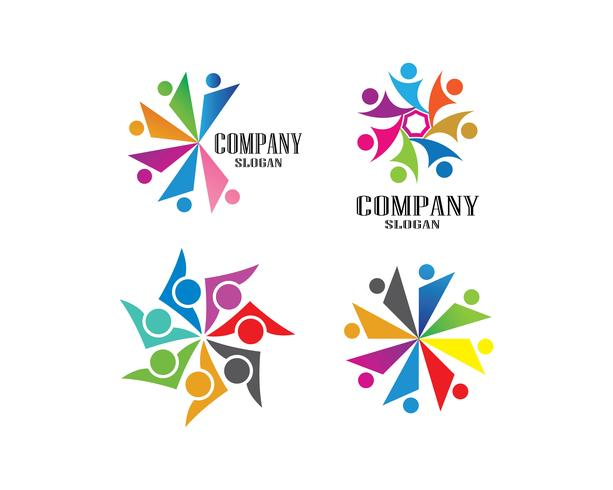 Adoptie en gemeenschapszorg Logo sjabloon vector