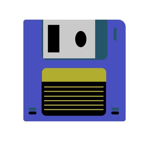 Disco floppy su bianco vettore
