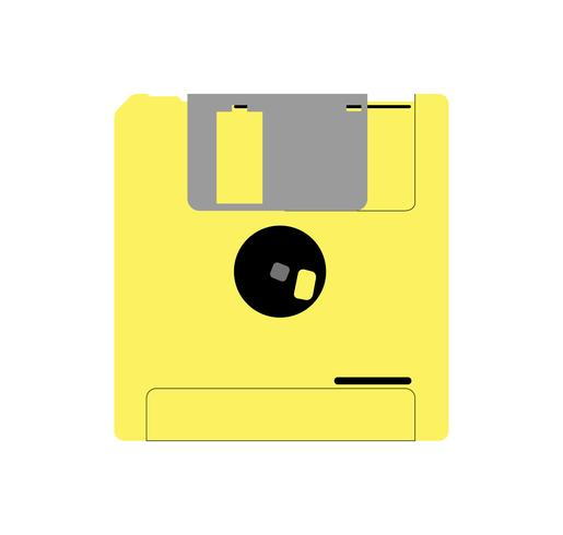 vintage diskette op wit vector