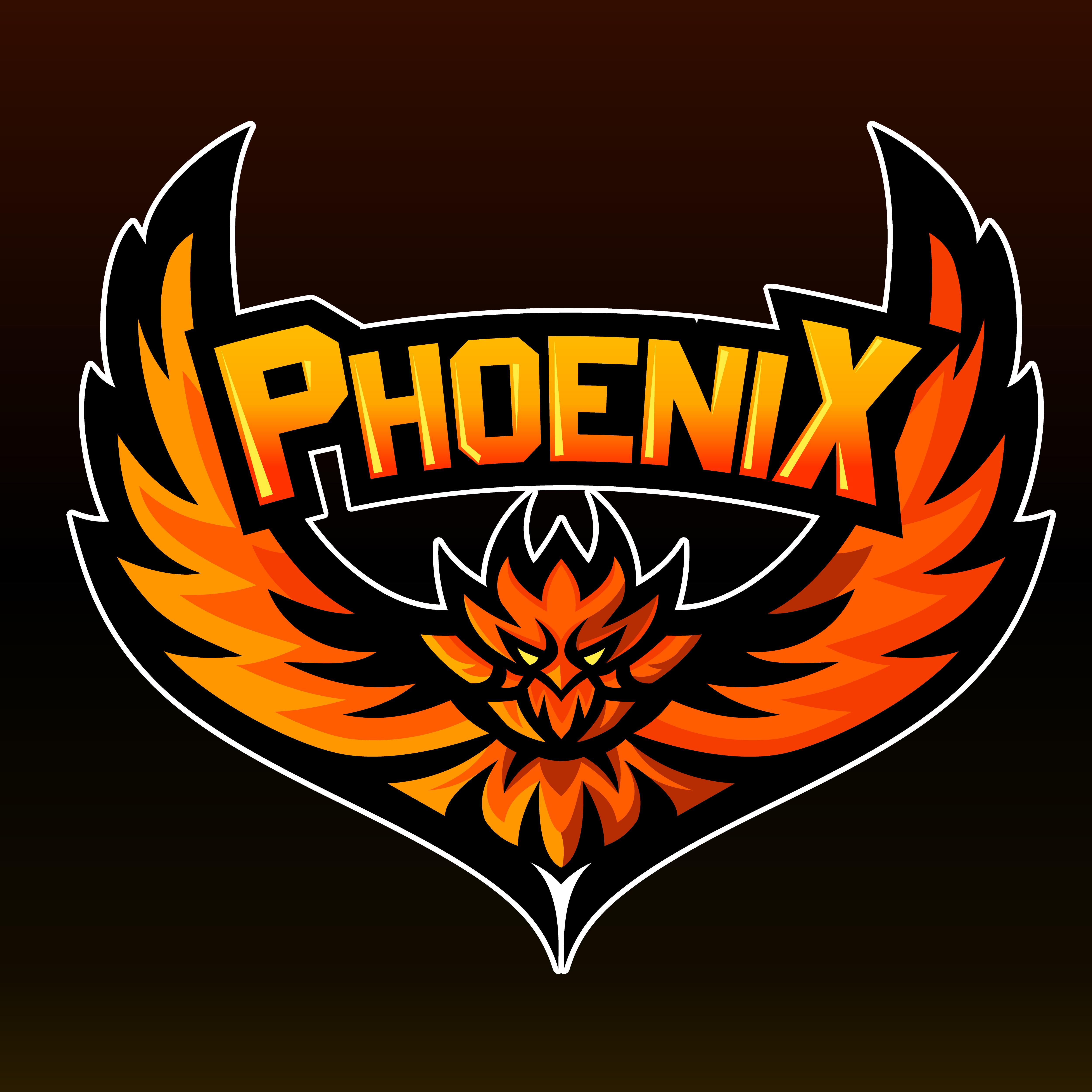 Phoenix, Mascot Logo , Sticker