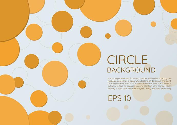 Cirkel bakgrund modern rund stil vektor