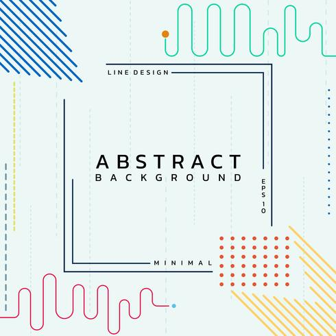 Abstract background modern lines vector