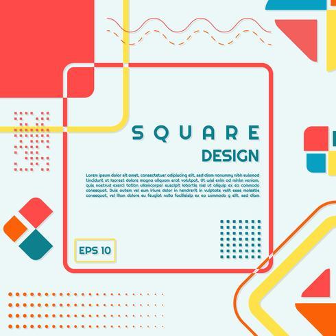Square design modern shape style halftones