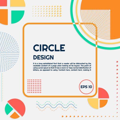Círculo de fondo moderno forma y líneas vector