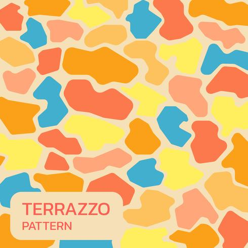 Colorful Terrazzo background vector