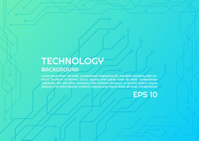 Bright Technology Lines  vector