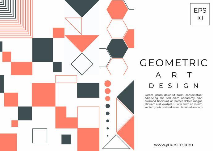 Geometric art design modern element shapes vector