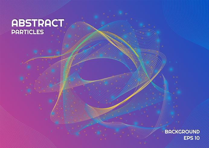 Abstracte deeltjes achtergrond Aurora ontwerplijn complex met lichteffect vector