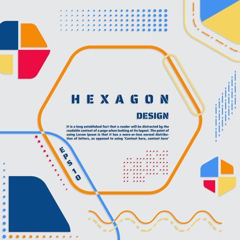 Hexagon poster modern  vector