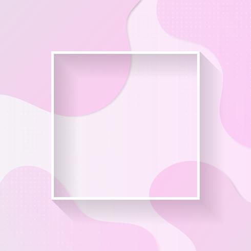 Liquid frame poster pastel color halftone with space for your text vector