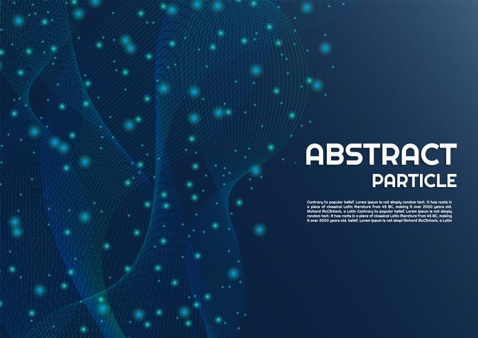 Particle background abstract line dot flow  vector