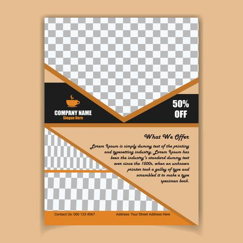 Creative coffee poster design template