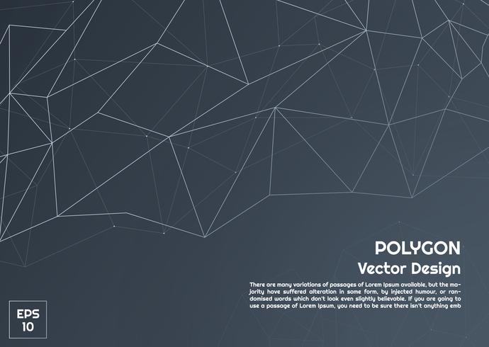 Fond sombre abstrait polygone vecteur