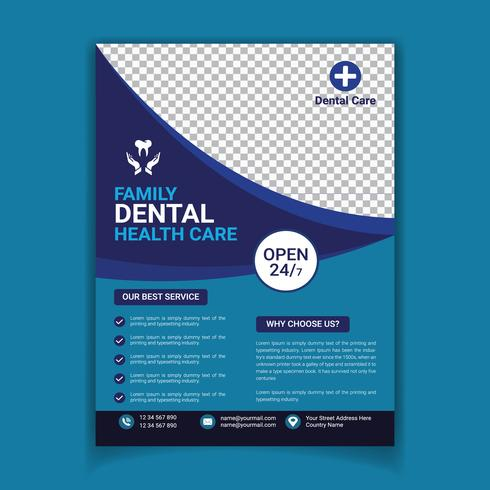 Modello di volantino dentale medico