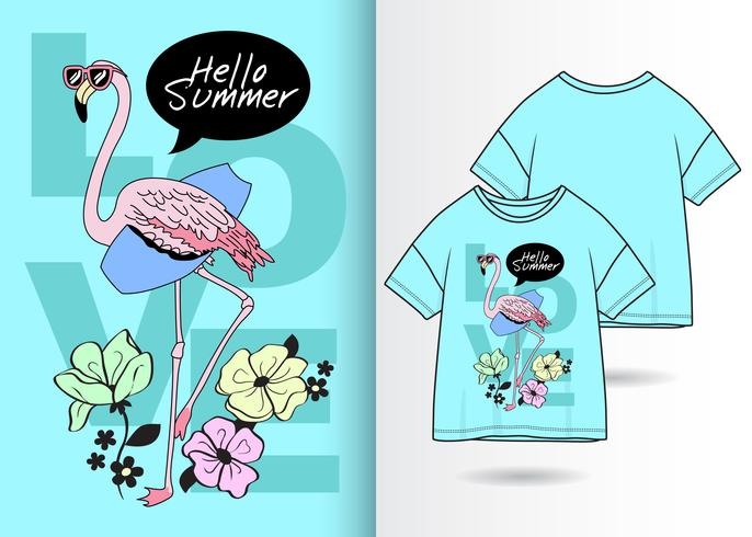 flamingo t-shirt ontwerp