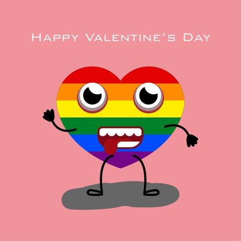 Carte LGBT Happy Valentine's Day vecteur