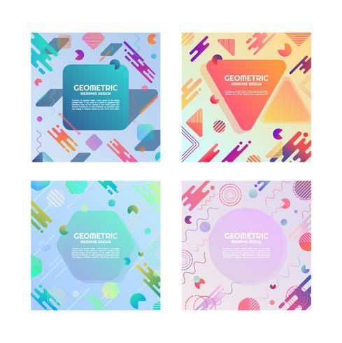 Set of Geometric colorful Patterns