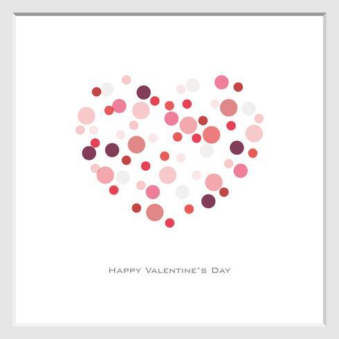 Sfondo di San Valentino con punti cerchio casuale
