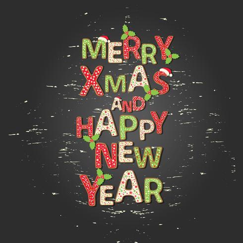 Sfondo di Natale con auguri preventivo Buon Natale e felice anno nuovo