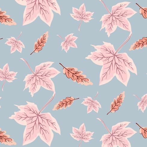 Modello di foglie cadenti femminile disegnato a mano