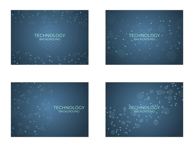 Teknologi bakgrundsstruktur digital vektor