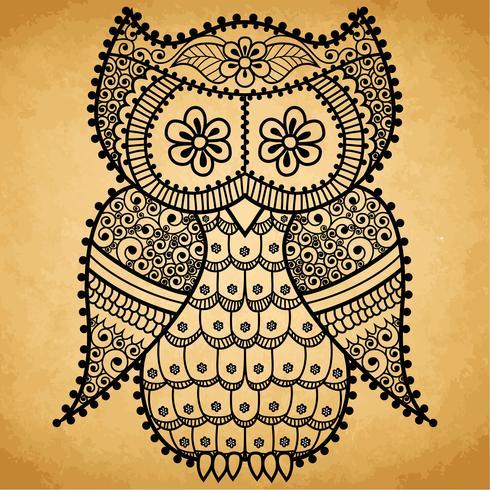 Owl Mandala Pattern vector
