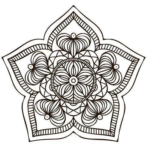 Mandala. Blommig prydnad vektor