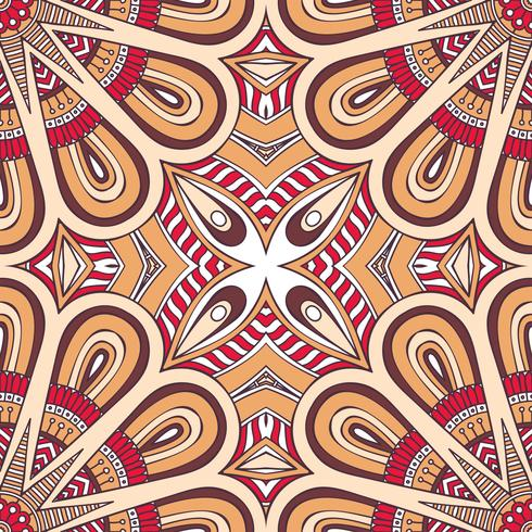 Seamless pattern in ethnic style. Vintage decorative elements. vector