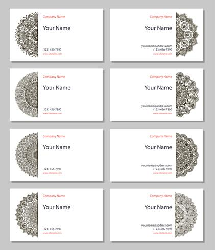 Set of henna business cards