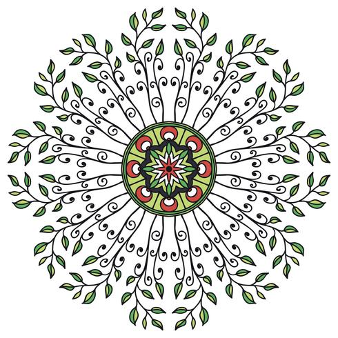 Mandala floral ornament in ethnic style