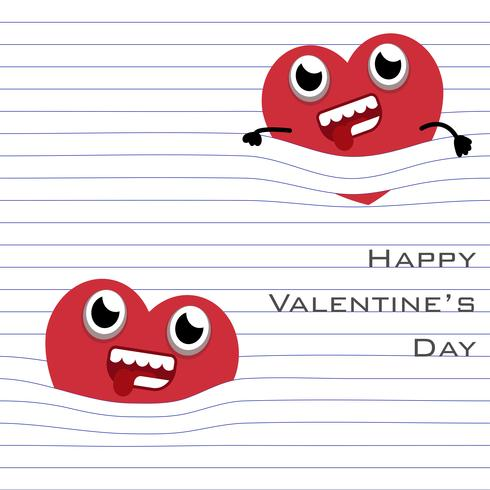 Red Heart accrocher avec la ligne de page de papier