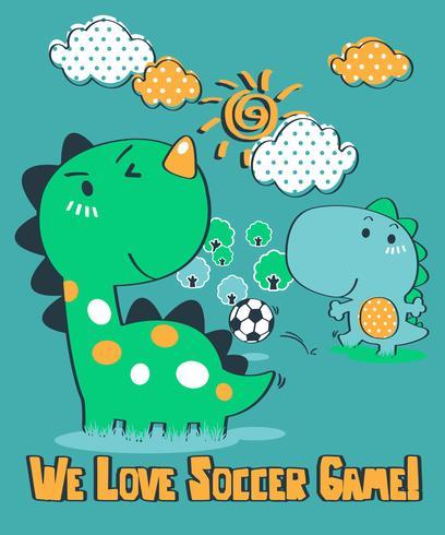 We Love Soccer Game Dinosaur