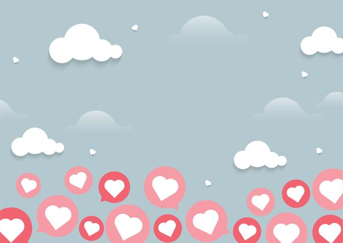 Flying Heart Chat fond clair