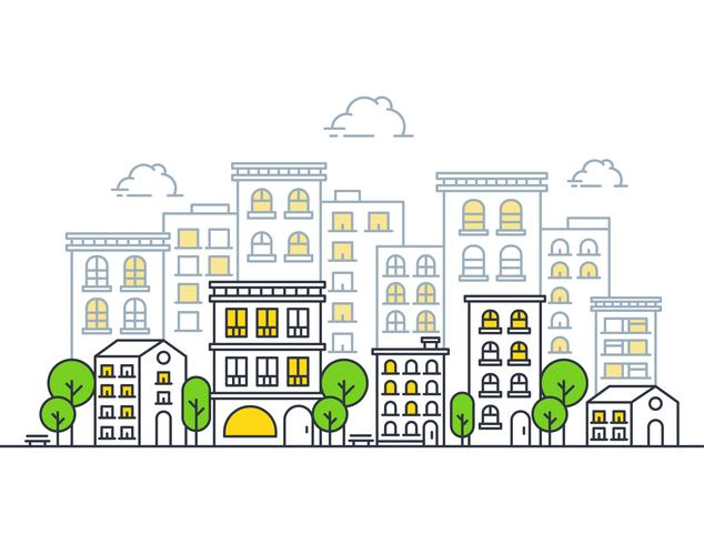 Modern illustration of City