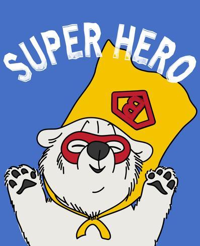 Oso superhéroe vector