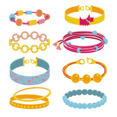 Collection of  bracelet accessories