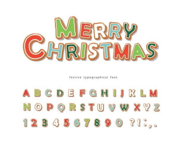 Christmas Gingerbread Cookie font
