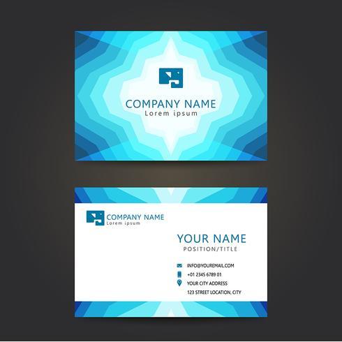 conjunto abstrato azul cartão de visita