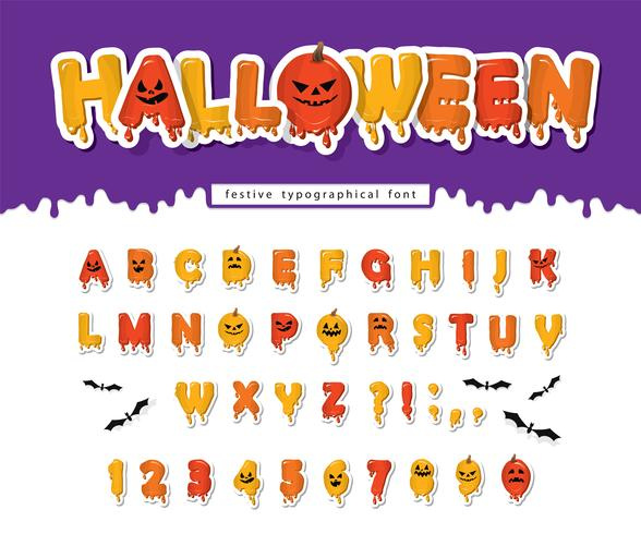 Fuente de calabaza de Halloween vector